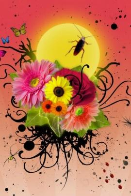 வால்பேப்பர்கள் ( flowers wallpapers ) - Page 17 3d_art_flowers_wallpaper-t2