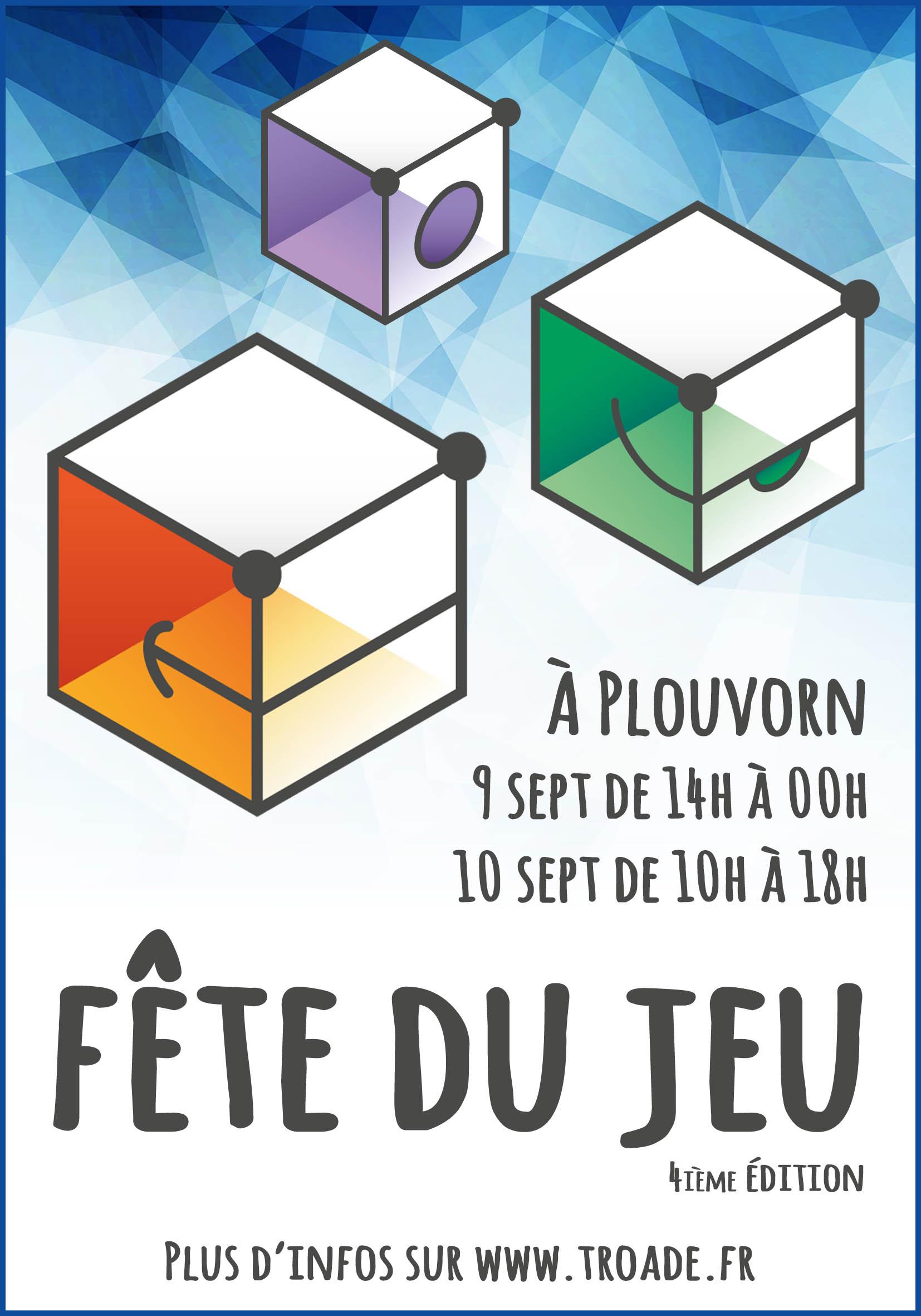 """Fête du jeu """"Troadé, les 9 et 10 septembre 2017 Affiche_troade2017v1"""