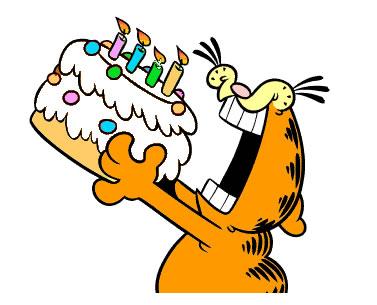 FELICIDADES ARITZ Garfield-birthday-cake