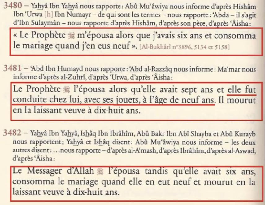 Mariage de Mahomet 53 ans et Aisha 6 ans Aicha-2