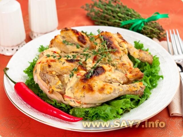 Цыпленок, запеченный под кремом из Филадельфии, чеснока, перца и тимьяна 815_0143rgz_6877_6gi