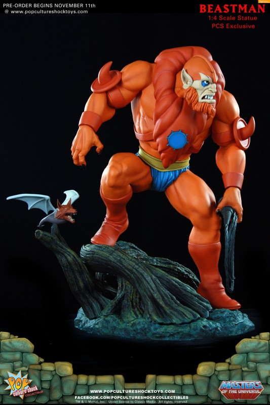 [Pop Culture Shock] Masters of the Universe: Beastman 1:4 Statue A24-533x800