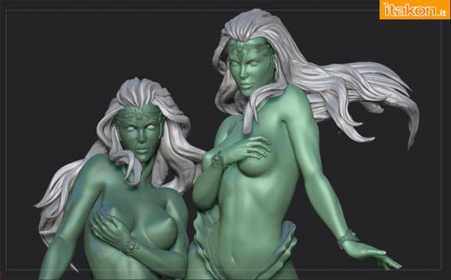 [ARH Studios] Twin Mermaids 1/4 scale statue – WIP Twin-Mermaids-1-650x404