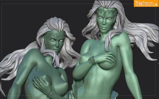 [ARH Studios] Twin Mermaids 1/4 scale statue – WIP Twin-Mermaids-2-650x405