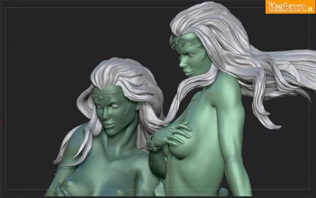 [ARH Studios] Twin Mermaids 1/4 scale statue – WIP Twin-Mermaids-3-650x407