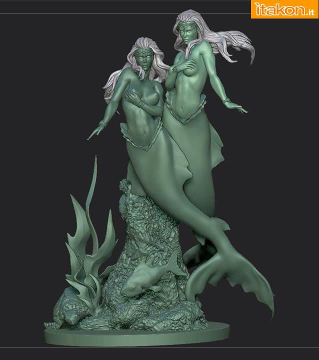 [ARH Studios] Twin Mermaids 1/4 scale statue – WIP Twin-Mermaids-4