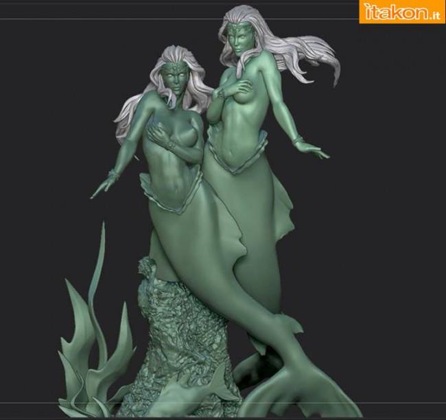 [ARH Studios] Twin Mermaids 1/4 scale statue – WIP Twin-Mermaids-6-650x612
