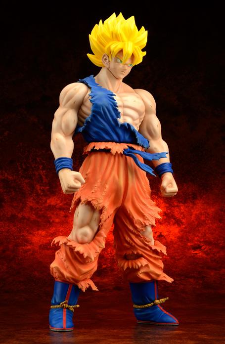 [X-Plus] Dragon Ball Z: Son Goku SSj Damage ver. - Gigantic Series Goku-SSj-xplus-damage-anteprima-3