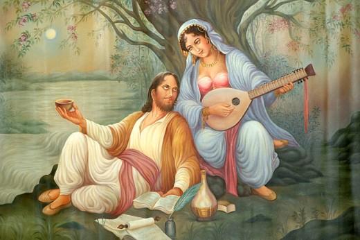 Poemas de Amor  - Página 17 Beautiful-romantic-mughal-era-paintings-520x346
