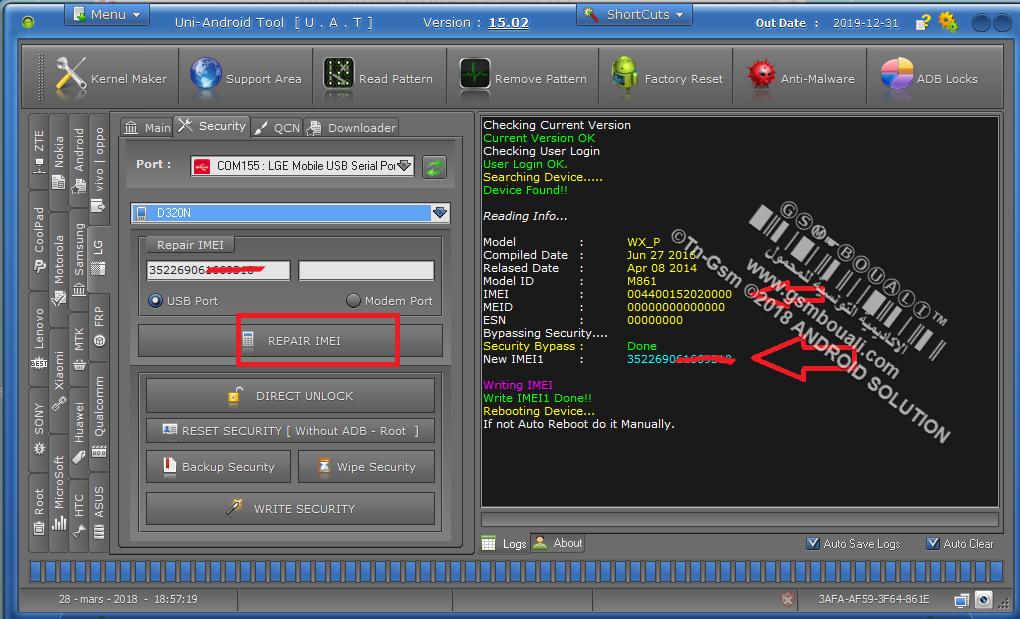 :تـم الحل: Fix imei Null Baseband Unknown on LG L70 D320N with UAT done  0984231001522261843