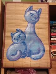 Кошки из бамбука и акрила 0269432001385703724