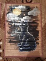 Кошки из бамбука и акрила 0574099001386091579
