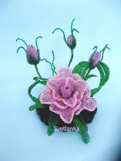цветы из бисера - Страница 7 0318116001394639090