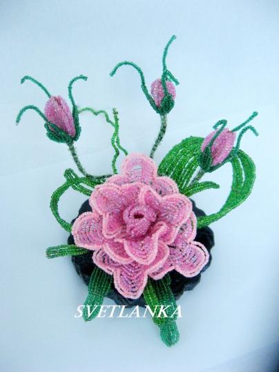 цветы из бисера - Страница 7 0696490001394639090