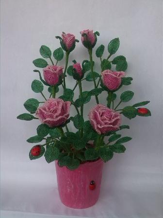 цветы из бисера - Страница 7 0562961001394894936