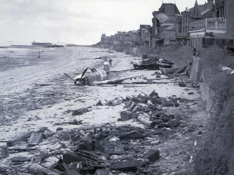 les plages de Normandie avant et maintenant 341