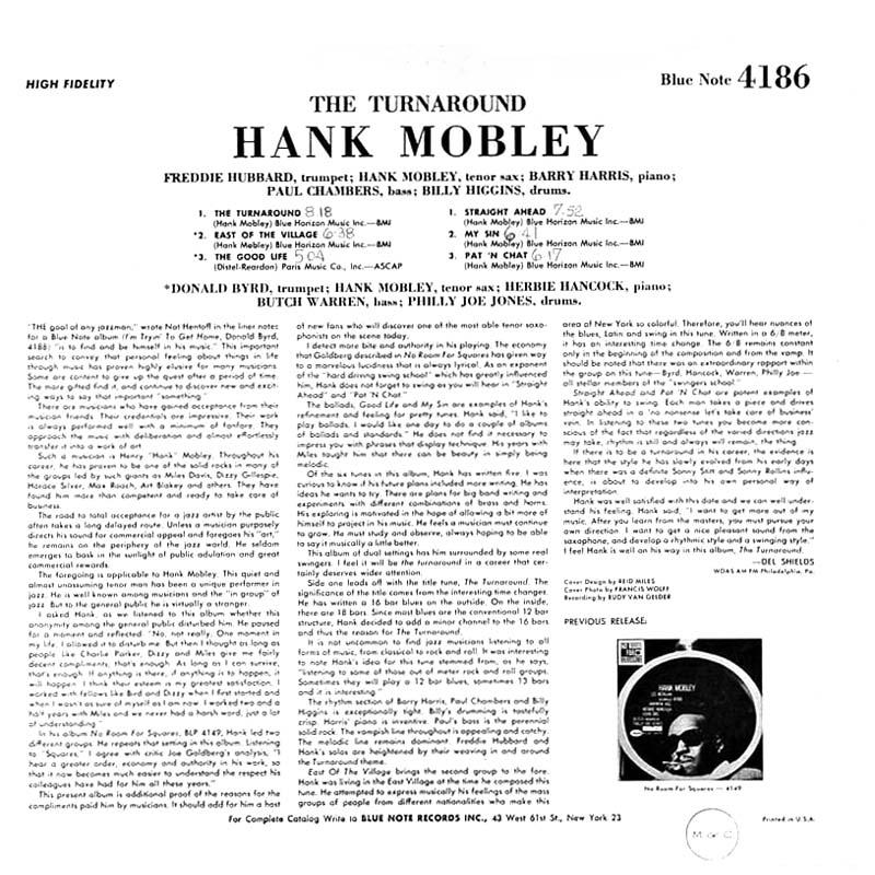 Ce que vous écoutez là tout de suite - Page 19 Hank-mobley-the-turnaround-1965b