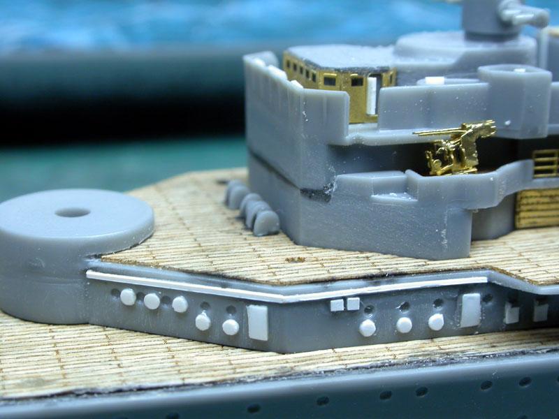 Montage Prinz Eugen au 1/700° Tamiya Pe04