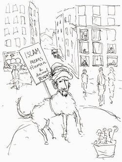 Le voile intégral - Page 5 Demonstrationshundenlit
