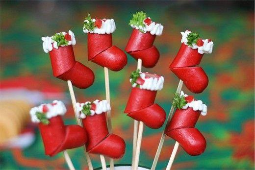 Repas de Noël  Hotdog-Christmas
