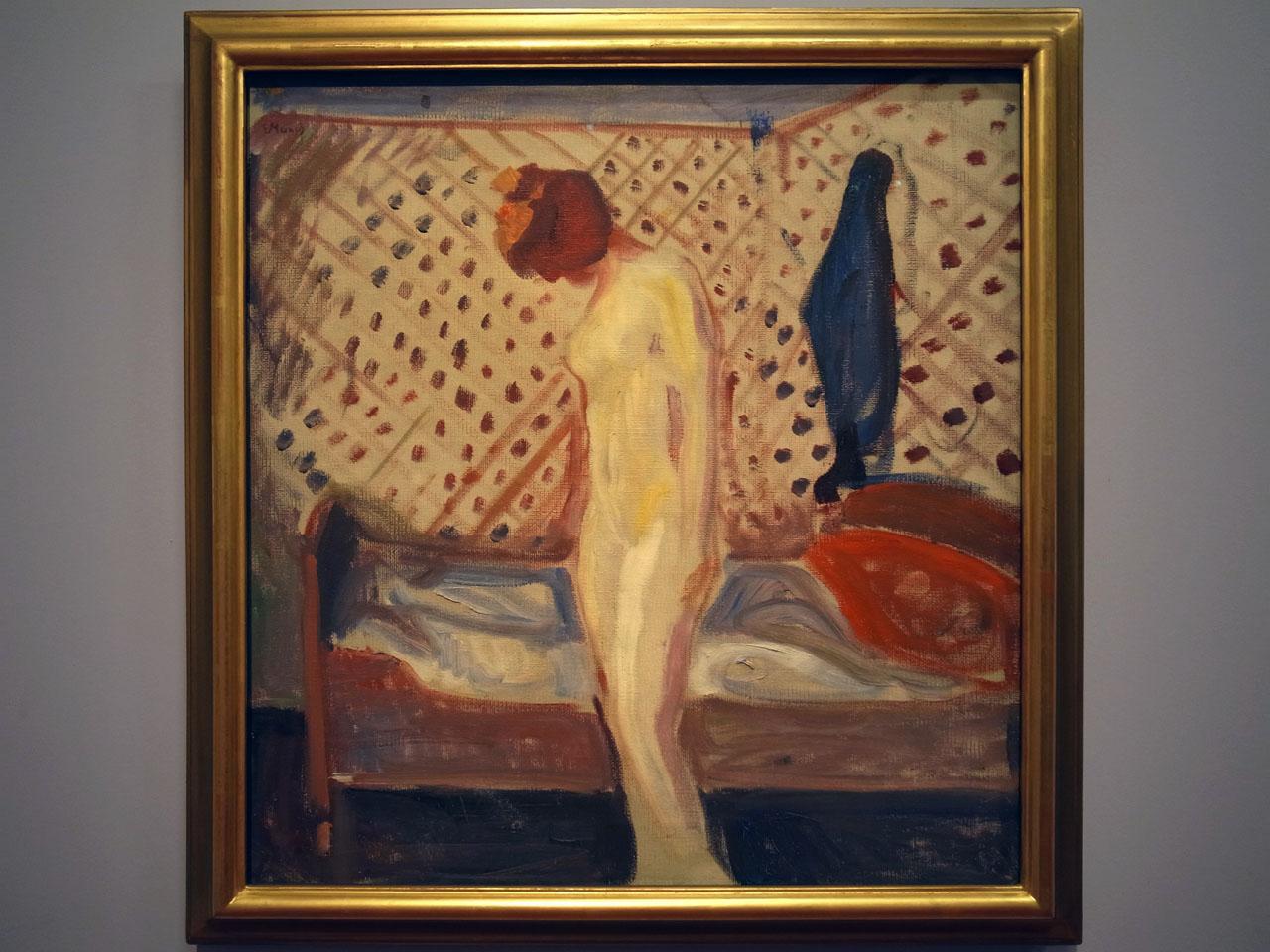 ce que voit le peintre et ce qu'il nous envoie Munch-nu-peinture-1