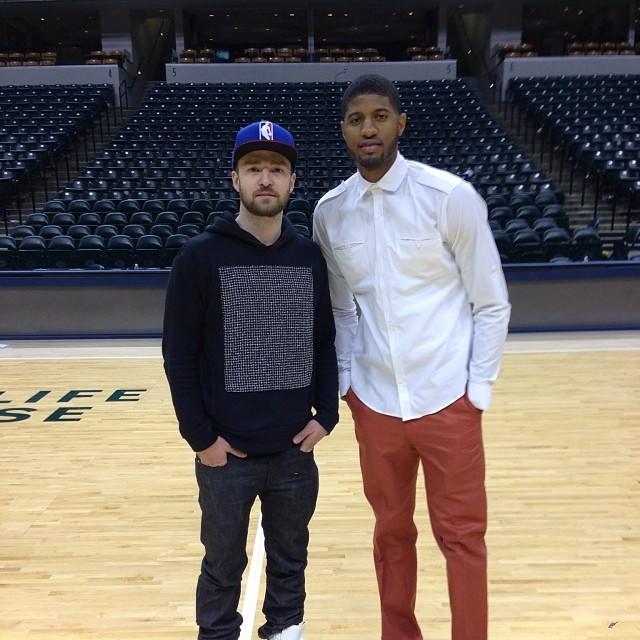 ¿Cuánto mide Justin Timberlake? - Altura - Real height Paul-George-Justin-Timberlake