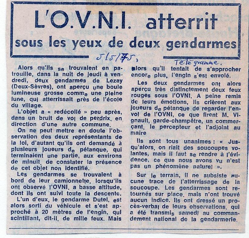 Les cas rapportés par des gendarmes ou des policiers Lezay3xh7