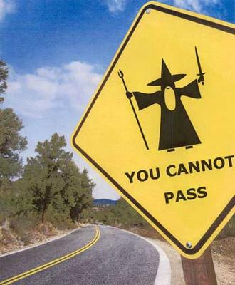 Lord of the Rings Humour: Parodies, Satires and More - Page 4 Gandalf-sign