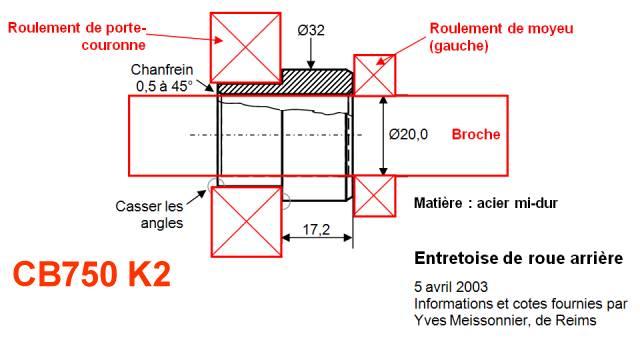 Entretoise dans le moyeu arrière Entretoise%20cb750%20k2