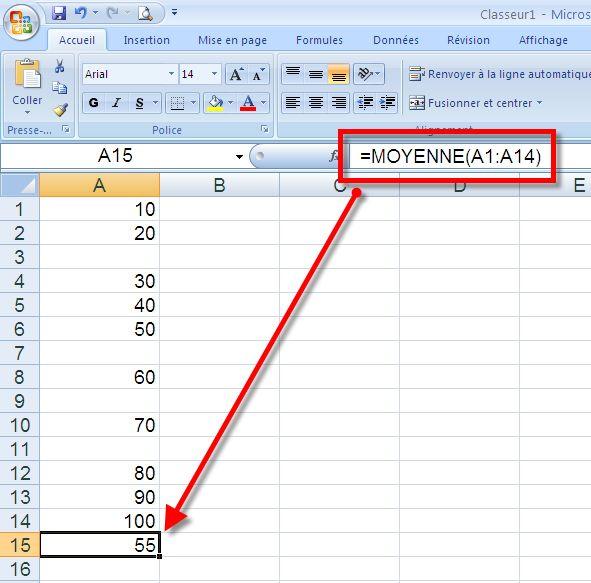 مقياس الاعلام الالي 30 ساعة  Excel_moyenne