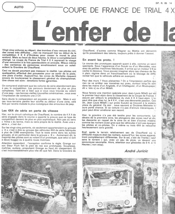 Unimog 411 trial  et chasse neige ! 1986_Orcieres_Merlette_Dauphine_Libere_1