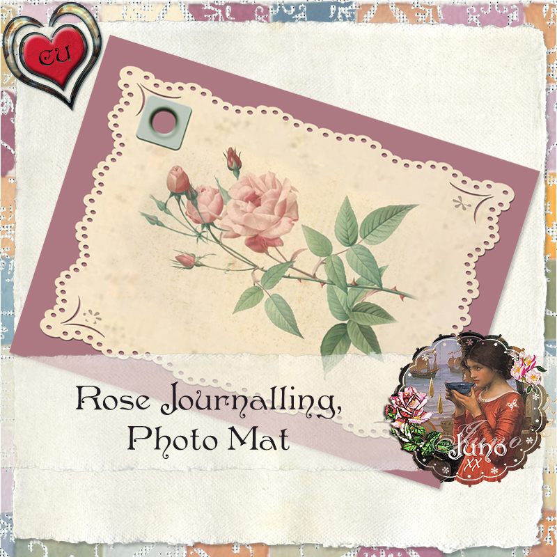 CU Rose Journalling Mat - By: JunosPlace Juno-cu-rose-journalling-photo-mat