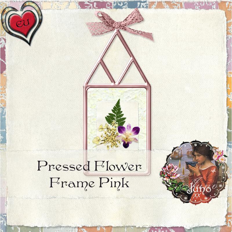 CU Pink Pressed Flower Frame Freebie Juno-cu-pink-pressed-flower-frame1