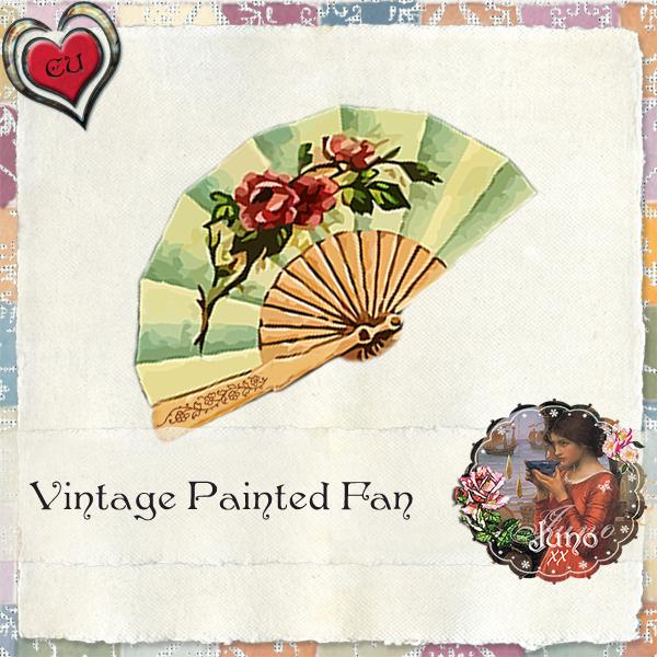 Vintage Painted Fan (Juno's Place) Juno-cu-vintage-painted-fan1