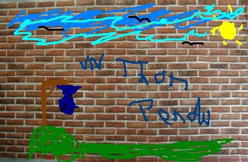Le mur aux graffiti Brickthon