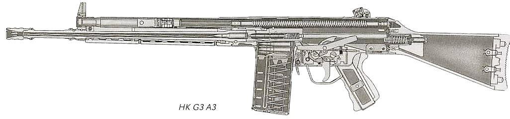 Fusil Automatico HK G3 7,62 x 51 a detalle 48126F174