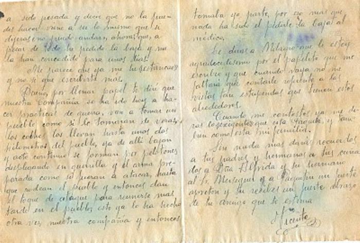 Carta de un soldado en la guerra civil española-taringa. FEE65CF53