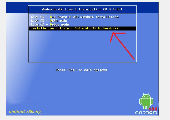 Instalar Android x86 en el ordenador 330