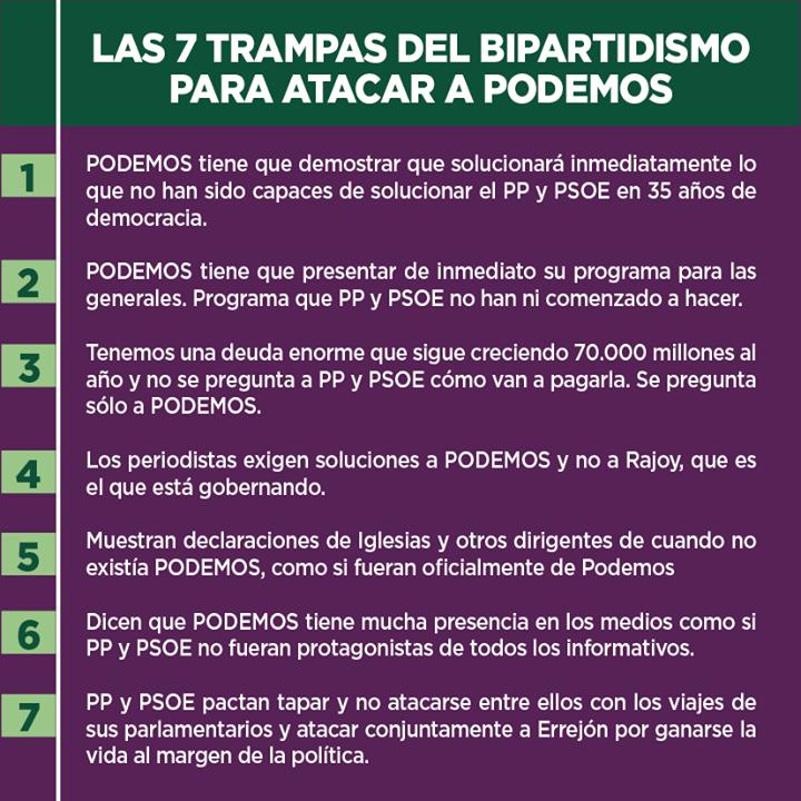 Las 7 trampas del bipartidismo contra Podemos 272