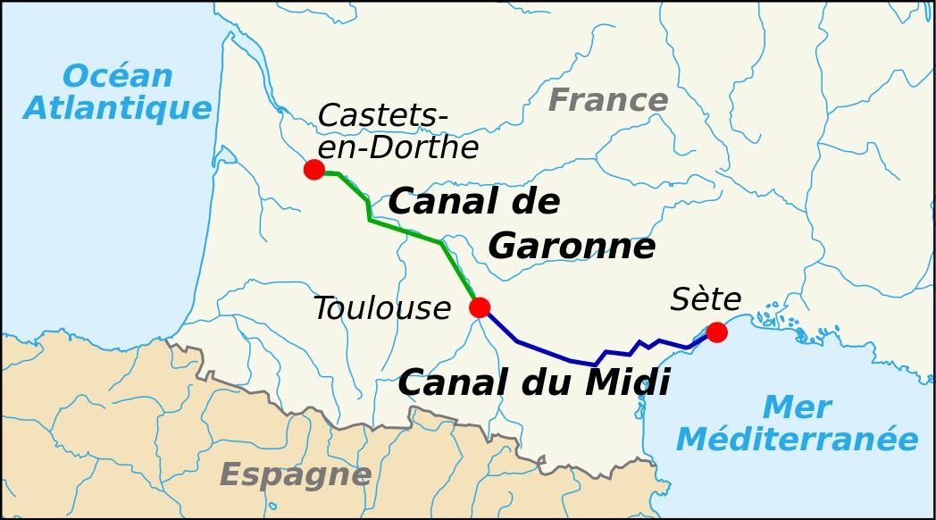 El canal de Midi en Toulouse D68