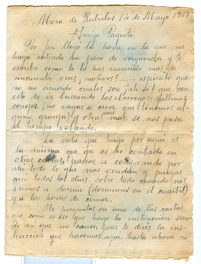 Carta de un soldado en la guerra civil española-taringa. 8FACD4ABE
