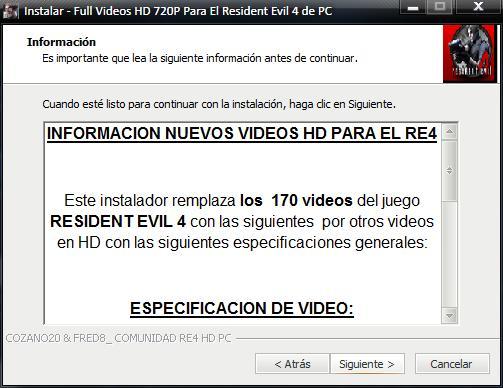 [OFFLINE] Videos HD  720 para el juego Resident Evil 4 (Actualizados) 7DE51B8B3