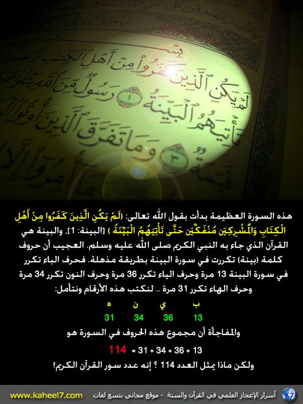 فضائل سور القرآن الكريم 114-7
