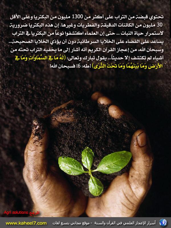 رائع بالصور: من أسرار الإعجاز العلمي في القرآن والسنة Soil-be