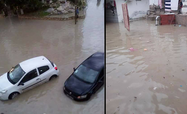 Monastir : Inondations et trafic routier paralysé Monastir-inondations