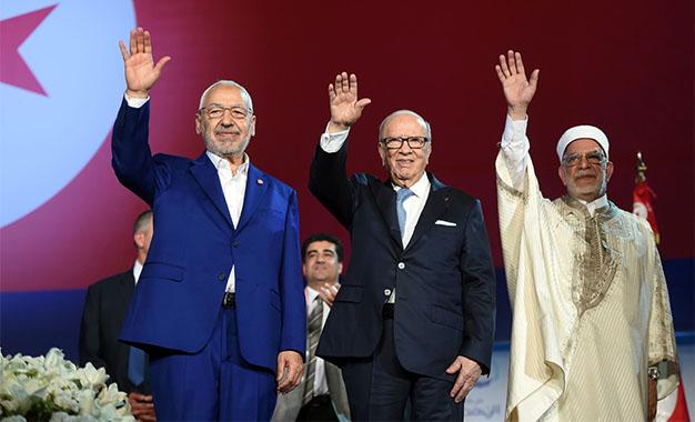A. Mourou a des inquiétudes sur l'avenir de la Tunisie Mourou_Ghannouchi_Essebsi