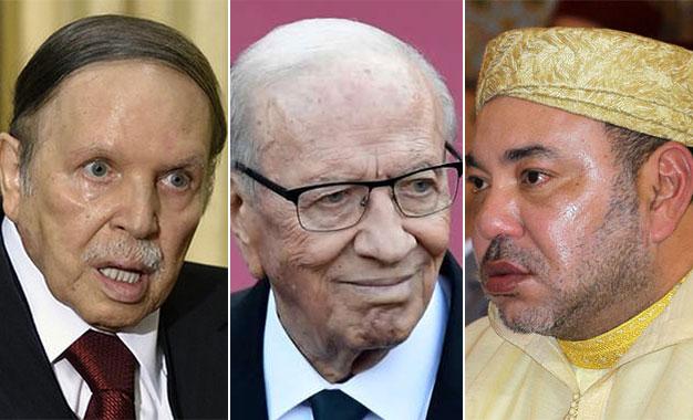 Le Maghreb et le naufrage de ses dirigeants Bouteflika-Caid-Essebsi-Mohamed-VI