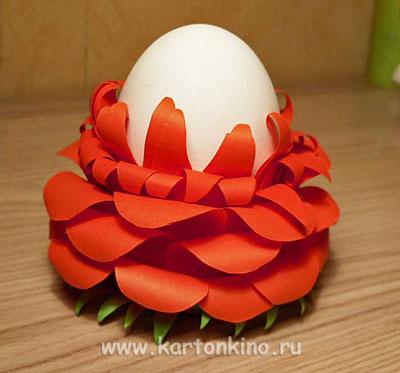 Упаковки и подставки Пасхальные Egg-flower-10
