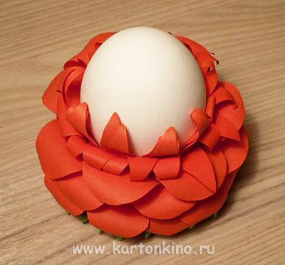 Упаковки и подставки Пасхальные Egg-flower-11
