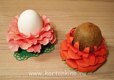 Упаковки и подставки Пасхальные Egg-flower-21